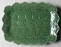 "Bordallo Pinheiro Geranium Green 15"" Rectangular Serving Platter 7643905"