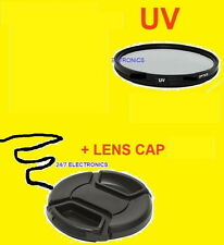 58mm Ultra-violet UV FILTER+FRONT SNAP-ON LENS CAP TO CAMERA 58 mm threads