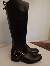 "FRYE ""Melissa"" equestrian riding harness boots 100% leather women's size 6 B"