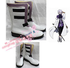 Pandora Hearts Xerxes Break White & Black Cosplay Boots shoes S008