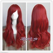 La Petite Sirène Ariel , bouclés rouge Halloween Cosplay fête cheveux  perruque