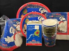 Vtg 1986 Real Ghostbusters Party KIT Napkins Cups Plates Hats Invitations