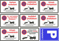 Aufkleber Parken Verboten Wetterfest Schild Halteverbot Abschleppen Parkverbot