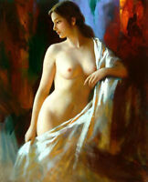 ZOPT566 abstract nude girl portrait hand painted oil painting decor art canvas