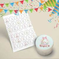 Easter Themed Cupcake Toppers Edible Icing Images 35mm x 30 Precut Bunny Basket