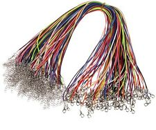 """100pcs Wax Cord Necklace Lobster Clasp Jewelry Fit Charms 18"""" Dia 1MM mix colors"""