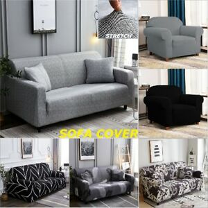 1 2 3 4Seater Sofa Cover Stretch Couch Lounge Recliner Chair Slipcover Protector