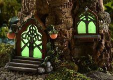 Miniature Fairy Garden Door & Window Glow-in the-Dark GI 700371