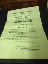 Old Herefordshire Document 1918 Leominster,Kingsland, Eyton ,Hammond, Langford