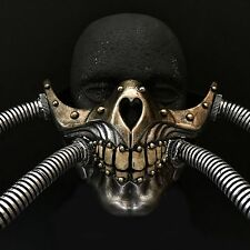 Steampunk Half Face Skull Vintage Burning Man Cosplay Halloween Pipe Mask