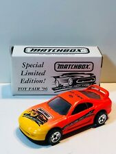 MATCHBOX MB30 TOYOTA SUPRA TOY FAIR 1996 ORANGE UNITED STATES RELEASE LIMITED