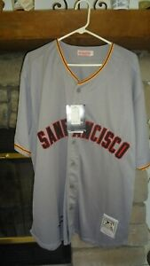 ORLANDO CEPEDA AUTOGRAPHED MITCHELL & NESS SIZE 54 SAN FRANCISCO GIANTS JERSEY