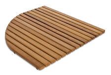 Alfombrilla 60x60 antideslizante redondeada-Tarima para ducha en madera de Iroko
