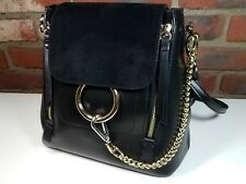 Simowear Ring Chain Chloe Faye inspired Black Backpack Convertible Shoulder Bag