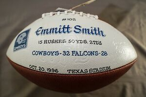 Emmitt Smith Game-Used Touchdown Football #102 Dallas Cowboys - Autographed