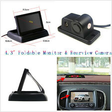 "2in1 Cars Parking Reverse Radar Camera 4.3"" Foldable Digital Monitor Display Kit"