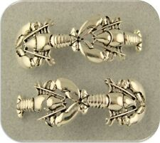 2 Hole Beads Lobster Bars OCEAN SEA Maine ~ Silver Plated Metal ~ Sliders QTY 2
