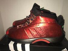 RARE adidas Crazy 1 Florist City Collection Damian Lillard Red Rose Sz 11 401c36597307
