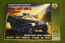 "Alemán Sdkfz 251/1 Ausf B ""Stuka Zu alboroto"" 1/35 Zvezda set 3625 D"