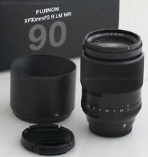 Fujifilm Xf 90mm f/2 R Lm Wr Fujinon Lens Box Hood Caps Exc+