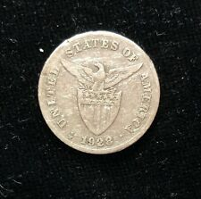 1928m (MULE) 20 centavos  US-Philippines Silver Coin - lot #4