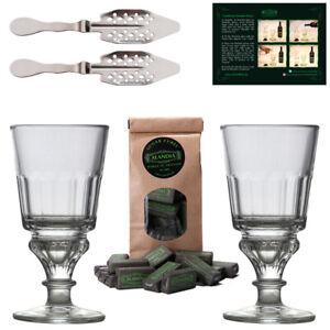 Absinth Glas Löffel Set | Original Design | Gläser mit Reservoir | ALANDIA™