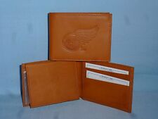 DETROIT RED WINGS  Leather BiFold Wallet   NEW   tan