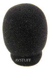 MICROPHONE 25mm SMALL FOAM WIND SOCK SHIELD WINDSOCK BLACK