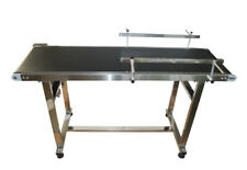 """15.7""""*59"""" Stainless Steel PVC  Conveyor With Double Guardrail 110V Versatile New"""