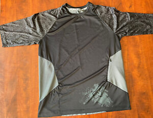 Fox Racing MTB Mens 3/4 Sleeve Jersey L Black/Gray