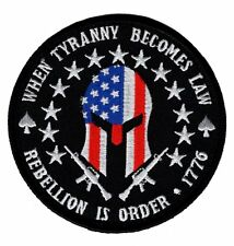 Hook Three 3% Percent Rebellion Tyranny Molon Labe Tactical patch (Mty6)