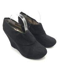 Mossimo Wedge Bootie Black Suede Women Size 11M