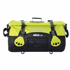 Oxford Aqua T50 Waterproof Motorcycle Roll Bag Tail Pack Bike Tail Bag Yellow