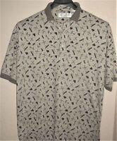 Cypress Links Polo Shirt Men's Sz L Large Golf Theme Golf Wear SS Sport Casual