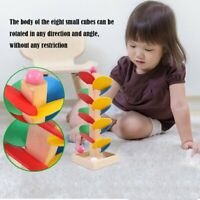 Montessori Educational Toy Wooden Tree Marble Ball Run Track Game Children Toy B