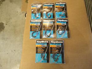 8 packs of hayabusa hooks