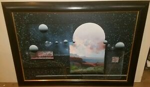 J. Kugler Celestial Abstract Original Painting Signed and Stamp-Authenticated.