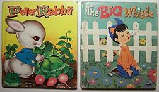 2 Books PETER RABBIT Jack and Louise Myers THE BIG WHISTLE Ann Tompert - K