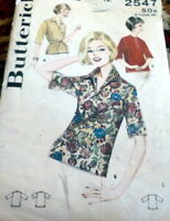 *LOVELY VTG 1960s OVERBLOUSE Sewing Pattern 12/32