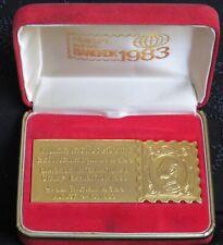 1983 Bangkok Int. Stamp Expo Medal Thailand Rama 5 Exhibition RARE with Box