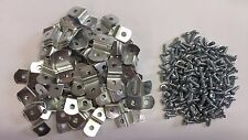 """50 x 1/4"""" Picture Frame Offset Clips With Screws for Canvas, Mirrors, etc"""
