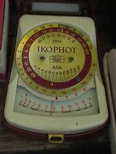 Zeiss Ikophot & case, GOLD lettering, working Meter 9+