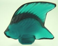 ANGEL FISH BLUE GREEN BY LALIQUE CRYSTAL FRANCE