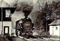 Eisenbahn DDR Motiv Postkarte Schmalspurbahn Freital-Hainsberg Bahnhof KIPSDORF