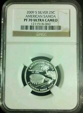 2009 silver Territories Perfect American Samoa quarter NGC PF 70 UCAM