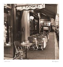Cafe de Flore Alan Blaustein Paris 18x19 print poster street scene sidewalk