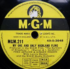 0493/ FRED ASTAIRE und GINGER ROGERS-My one and only highland fling-Schellack