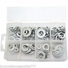 200 Piece Flat & Spring Steel Assorted Washers Set With Storage Case