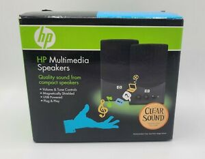 HP Multimedia Speakers 2007 USB Compact QuLity Sound PC Computer Audio TESTED!