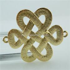 14097 5PCS Matte Gold Color Tradition Chinese Knot Connector Pendant Charm
